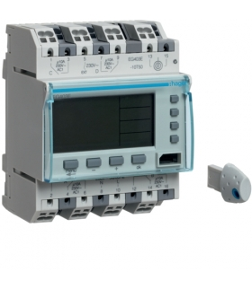 EG403E Zegar cyfrowy tygodniowy 300 kroków programowych 230V 2P+2NO 10A QuickConnect Hager