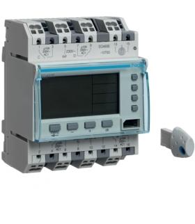 EG493E Zegar cyfrowy roczny+tygodniowy 300 kroków progr. 230V 2P+2NO 10A QuickConnect Hager