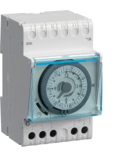 EH171 Zegar analogowy tygodniowy z rezerwą chodu 230V 1NO 16A Hager