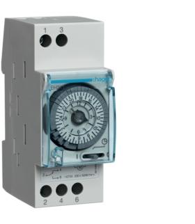 EH211 Zegar analogowy dobowy z rezerwą chodu 230V 1P 16A Hager