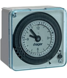 EH771 Zegar analogowy tygodniowy z rezerwą chodu 230 V 1P 16 A Hager
