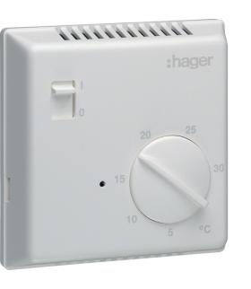 EK003 Termostat elektroniczny z wyłącznikiem ręcznym 230V 1P 8A Hager