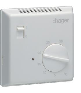 EK051 Termostat bimetalowy z wyłącznikiem ręcznym 230V 1P 10A Hager