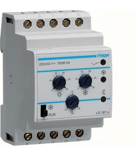 EK187 Termostat wielofunkcyjny modułowy bez czujnika 230V 1P 2A funkcje Comfort Hager