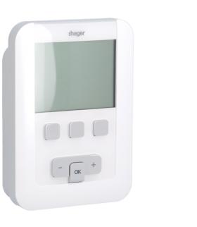 EK520 Termostat zegarowy cyfrowy tygodniowy bateryjny 1P 5A Hager