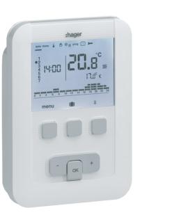 EK530 Cyfrowy termostat zegarowy o cyklu tygodniowym,  5A,  230 V Hager