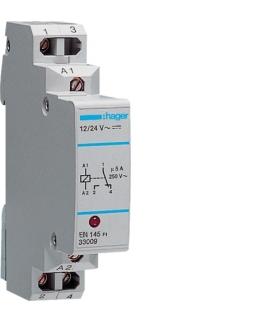 EN145 Przekaźnik komunikacyjny z diodą LED 12-24VAC/DC 1NO/NC 5A Hager
