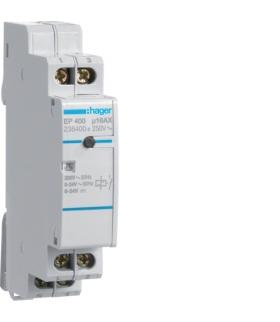 EP400 Przekaźnik bistabilny elektroniczny 2 wejścia 8-24VAC/DC + 230VAC 1NO 16A Hager