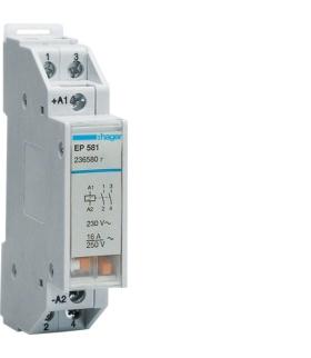 EP581 Przekaźnik bistabilny szeregowy 12V 1NO+1NO 16A Hager