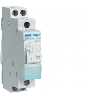 EPN515 Przekaźnik bistabilny 230VAC/110VDC 1NO+1NC 16A Hager