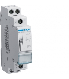 EPN524 Przekaźnik bistabilny 24VAC/12VDC 2NO 16A Hager