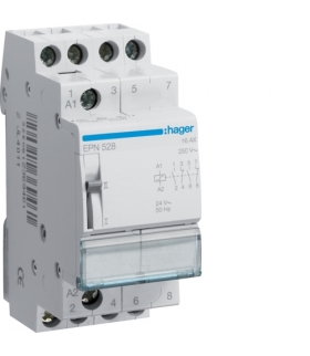 EPN528 Przekaźnik bistabilny 24VAC/12VDC 2NO+2NC 16A Hager