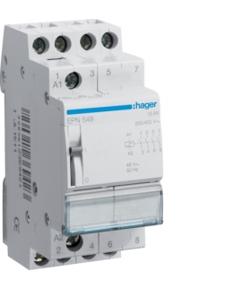 EPN548 Przekaźnik bistabilny 48VAC/12VDC 4NO 16A Hager