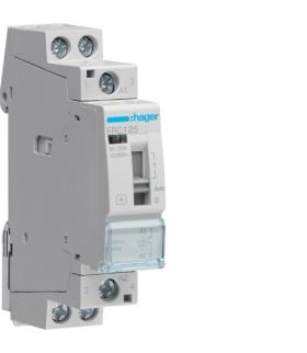 ERC125 Stycznik z możliwością sterowania ręcznego 230VAC 1NO 25A AC-7a/b  Hager
