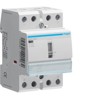 ERC240 Stycznik z możliwością sterowania ręcznego 230VAC 2NO 40A AC-7a/b Hager