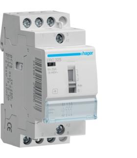 ERC325 Stycznik z możliwością sterowania ręcznego 230VAC 3NO 25A AC-7a/b  Hager