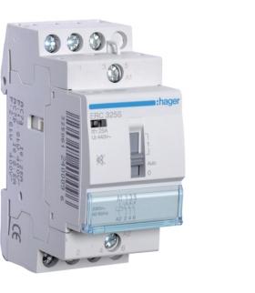 ERC325S Stycznik cichy z możliwością sterowania ręcznego 230VAC 3NO 25A AC-7a/b  Hager
