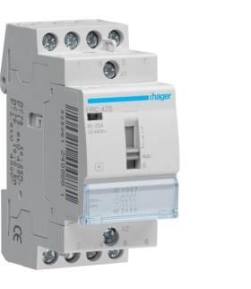 ERC425 Stycznik z możliwością sterowania ręcznego 230VAC 4NO 25A AC-7a/b  Hager