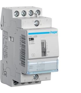 ERC426 Stycznik z możliwością sterowania ręcznego 230VAC 4NC 25A AC-7a/b Hager
