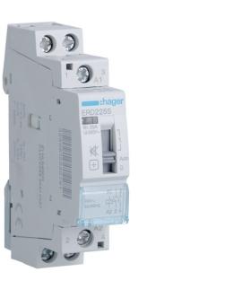 ERD225S Stycznik cichy z możliwością sterowania ręcznego 24VAC 2NO 25A AC-7a/b Hager