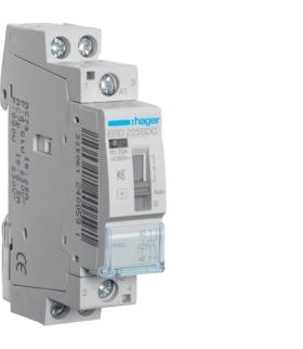 ERD225SDC Stycznik cichy z możliwością sterowania ręcznego 24V DC 2NO 25A AC-7a/b Hager
