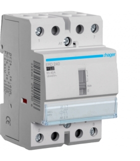 ERD240 Stycznik z możliwością sterowania ręcznego 24VAC 2NO 40A AC-7a/b Hager