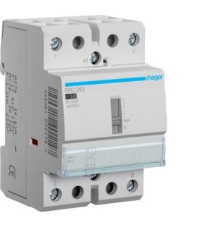 ERD263 Stycznik z możliwością sterowania ręcznego 24VAC 2NO 63A AC-7a/b  Hager