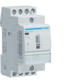 ERD418S Przekaźnik instalacyjny cichy 24V AC/DC 2NO+2NC 16A  Hager