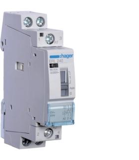 ERL240 Stycznik z możliwością sterowania ręcznego 12VAC 2NO 40A AC-7a/b Hager