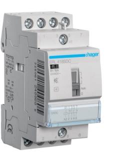 ERL418SDC Przekaźnik instalacyjny cichy z możliwością sterowania ręcz. 12V DC 2NO+2NC 16A Hager