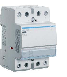 ESC240 Stycznik 230VAC 2NO 40A AC-7a/b Hager