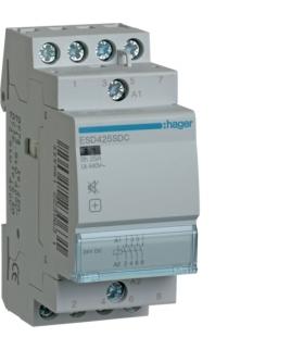 ESD425SDC Stycznik cichy 24VDC4NO 25A AC-7a/b Hager