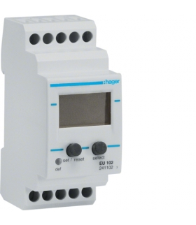 EU102 Przekaźnik kontroli napięcia 1-fazowy,  wyświetlacz LCD  Hager