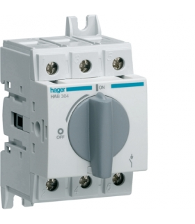 HAB304 Modułowy rozłącznik izolacyjny obrotowy 3P 40A,  rozmiar 1  Hager