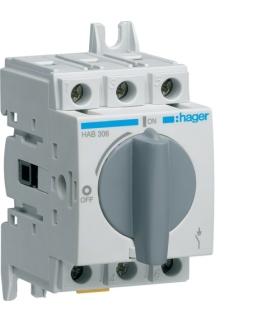 HAB306 Modułowy rozłącznik izolacyjny obrotowy 3P 63A,  rozmiar 1  Hager