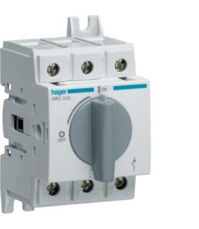 HAC308 Modułowy rozłącznik izolacyjny obrotowy 3P 80A,  rozmiar 2  Hager