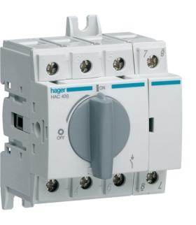 HAC406 Modułowy rozłącznik izolacyjny obrotowy 4P 63A,  rozmiar 2  Hager