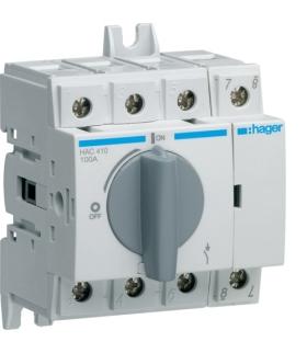 HAC410 Modułowy rozłącznik izolacyjny obrotowy 4P 100A,  rozmiar 2  Hager