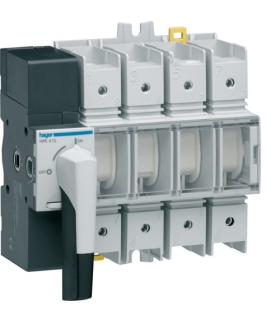 HAE410 Modułowy rozłącznik izolacyjny obrotowy z widoczną przerwą 4P 100A,  rozmiar 4  Hager