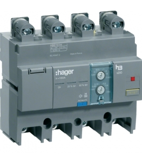 HBB161H Blok różnicowo-prądowy 4P 160A,  regulowany  Hager