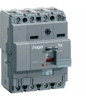HNA064H Wyłącznik mocy x160 4P 40kA 63A Hager