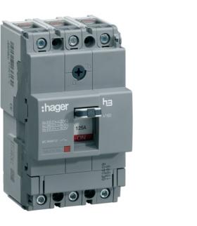 HNA125H Wyłącznik mocy x160 3P 40kA 125A Hager