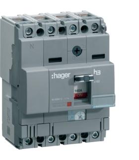 HNA126H Wyłącznik mocy x160 4P 40kA 125A Hager