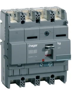 HNB102H Wyłącznik mocy x250 4P N50% 40kA 100A TM  Hager