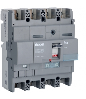 HNB127H Wyłącznik mocy x250 4P N50% 40kA 125A TM  Hager