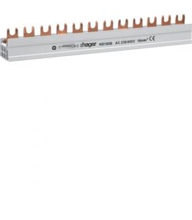 KB190B Szyna grzebieniowa kołkowa pozioma 1P 20mm² 57M  Hager