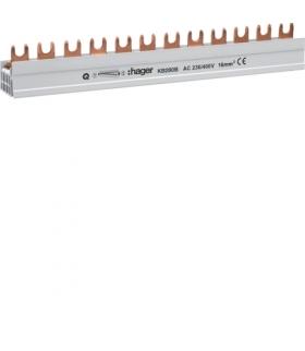 KB280B Szyna grzebieniowa kołkowa pozioma 2P 16mm² 56M  Hager