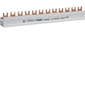 KB380B Szyna grzebieniowa kołkowa pozioma 3P 16mm² 57M  Hager