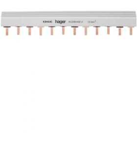 KB463C Szyna grzebieniowa kołkowa pozioma 4P 10mm² 24M  Hager