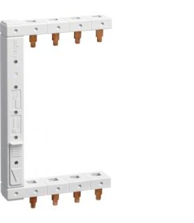 KCF663L Szyna grzebieniowa kołkowa pionowa 4P 16mm² do RCCB 2-rzędowa lewa 125mm  Hager
